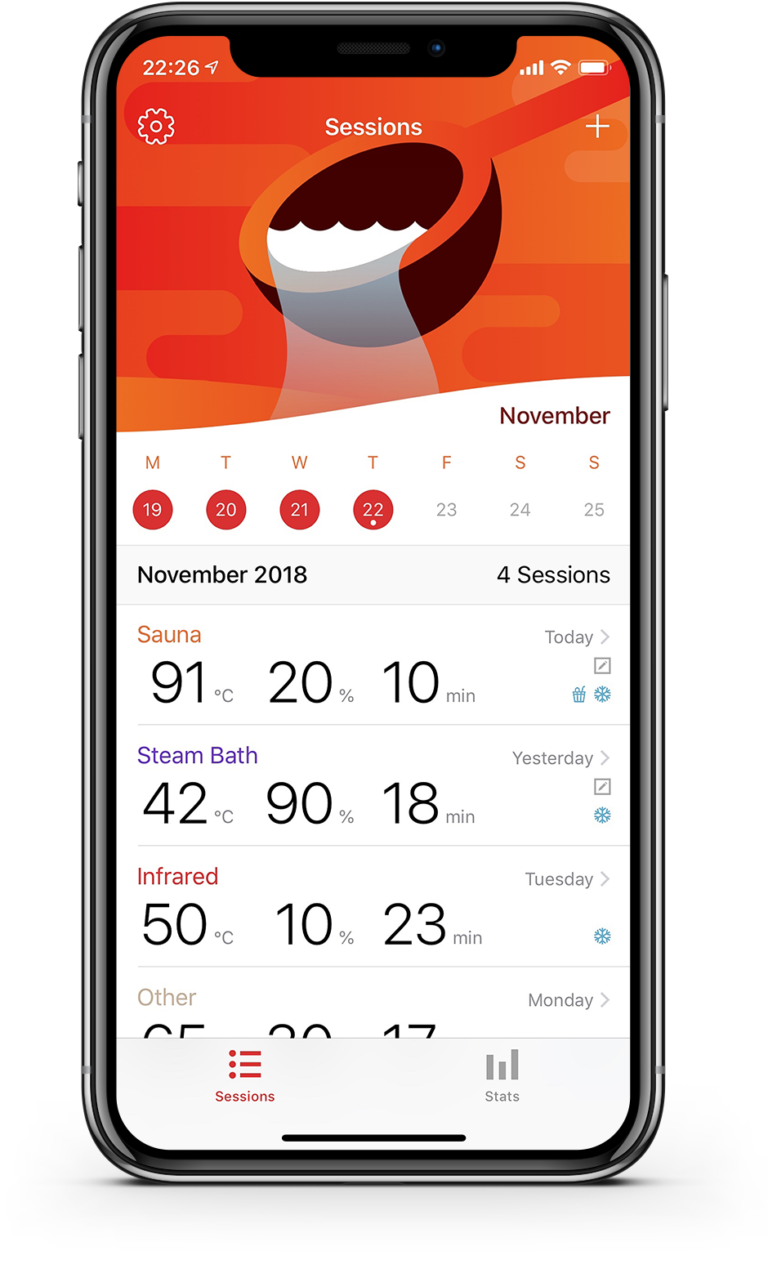 HotLog - Sauna Session Tracking App for iOS