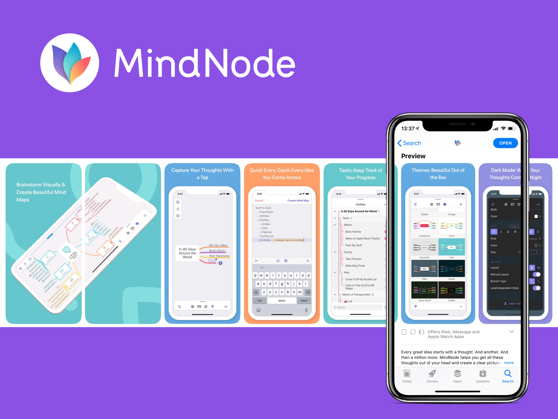 MindNode App Store Screenshots by Anwert
