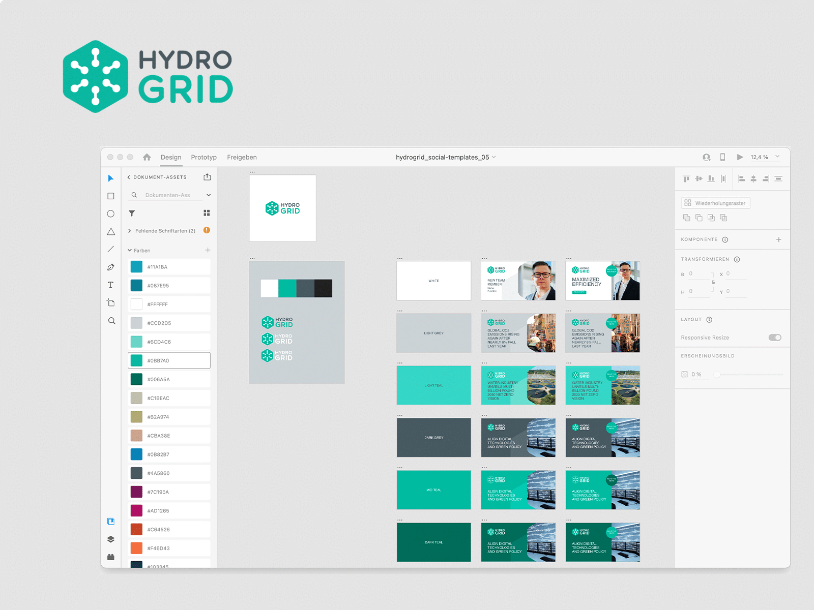 Social Media Templates for HYDROGRID